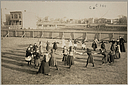 Education, Popular Culture: United States. New York. New York City: Public Schools, Adaptation to Special City Needs: New York City Public Schools: Examples of the Adaptation of Education to Special City Needs: Brooklyn Public School- Noon Games.   Social Museum Collection