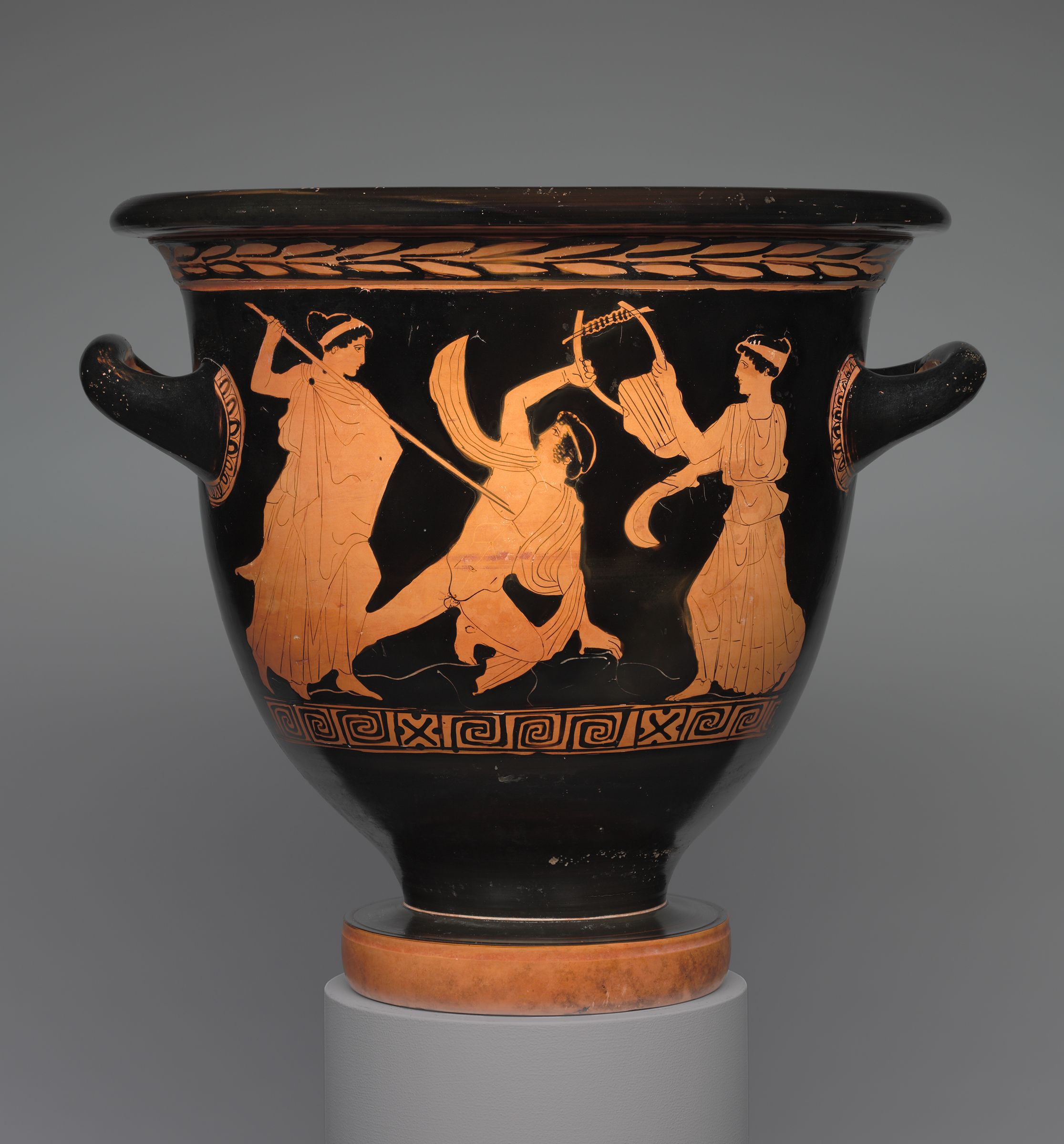 From the harvard art museums collections bell krater mixing bowl bell krater mixing bowl for wine and water dionysos with satyr and maenad reviewsmspy
