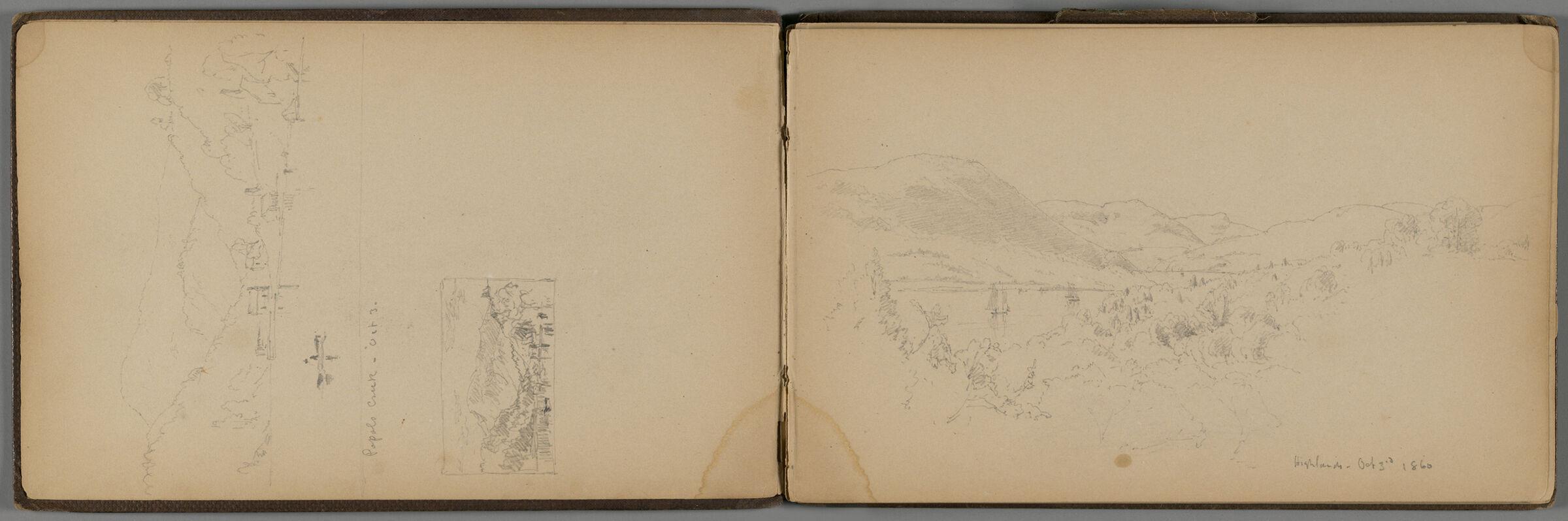 New Hampshire Highlands; Verso: Lake Sunapee, New Hampshire