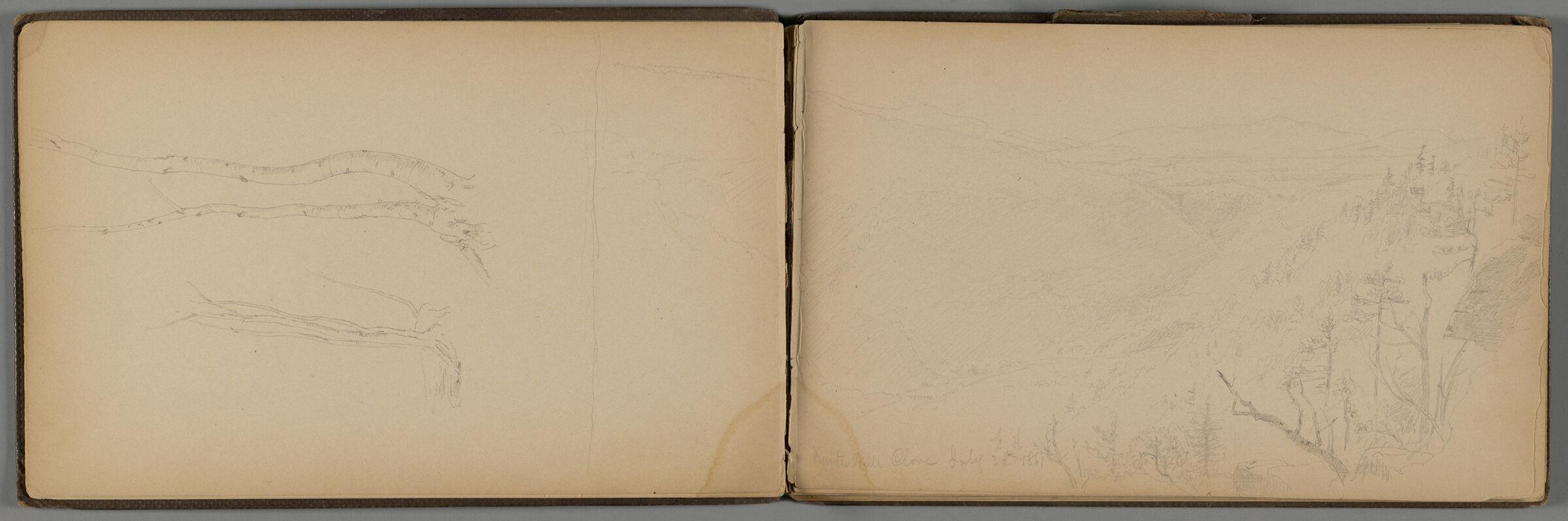 Kauterskill Clove July 31St, 1861; Verso: Landscape And Partial Landscape