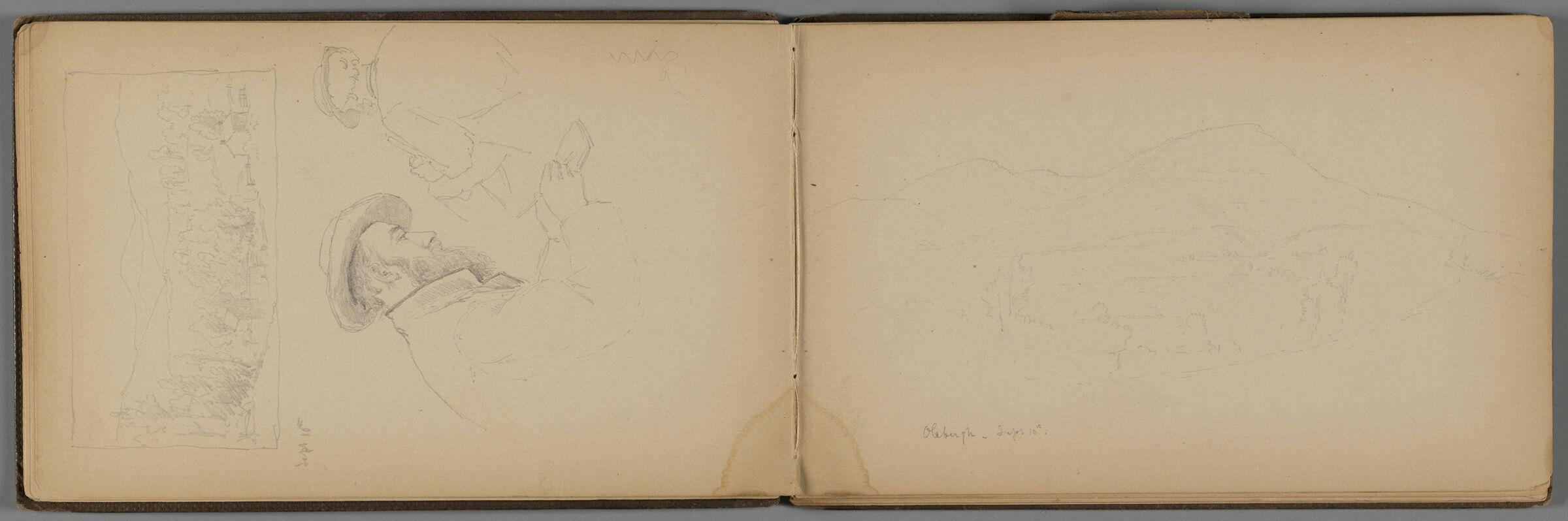 Faint Landscape; Verso: Landscape And Partial Landscape