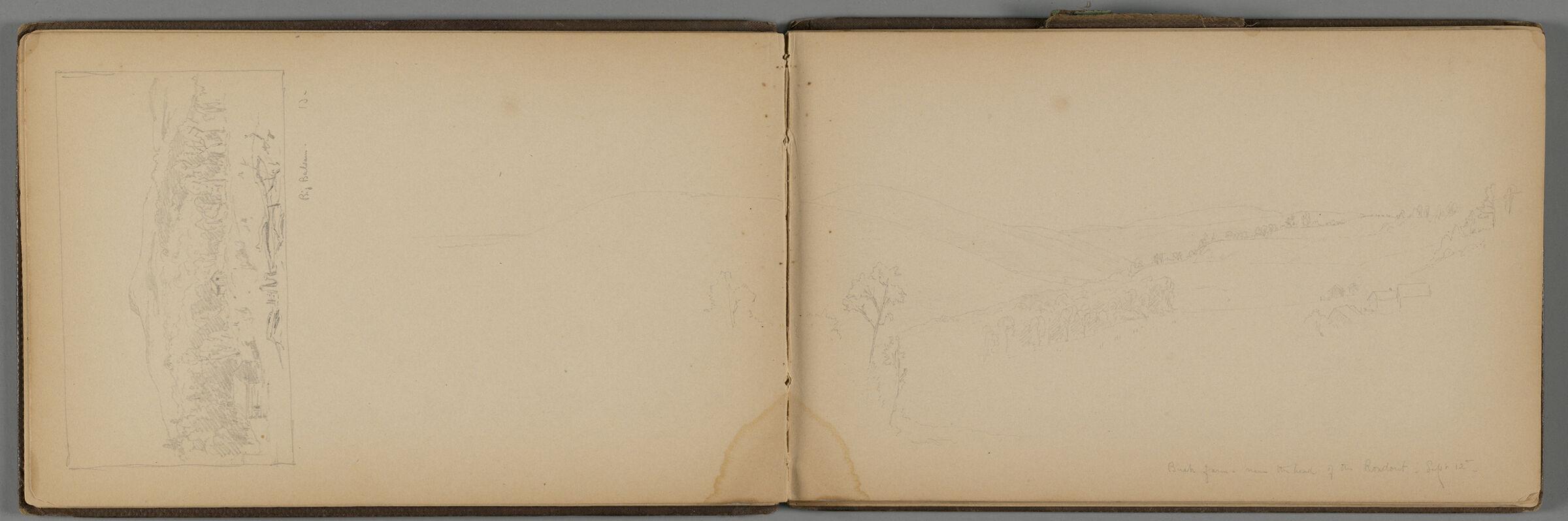 Bush Farm, Rondout Creek, New York; Verso: Two Shawangunk Mountains Landscapes