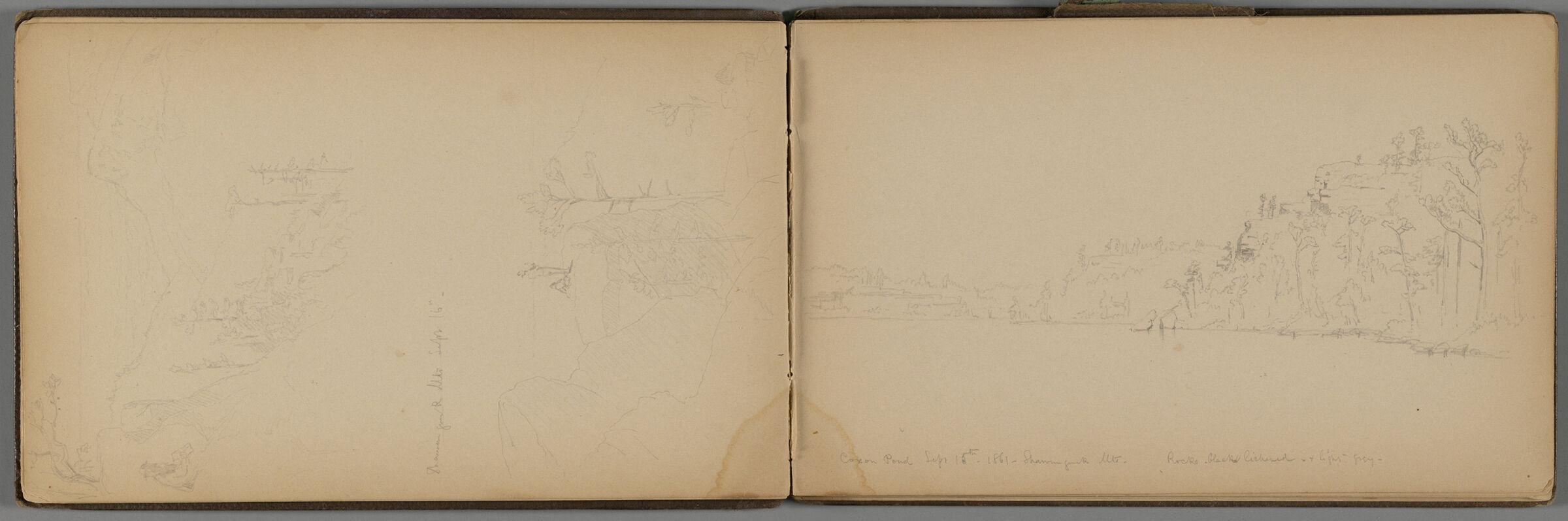 Shawangunk Mountains Landscape; Verso: Landscape And Partial Landscape