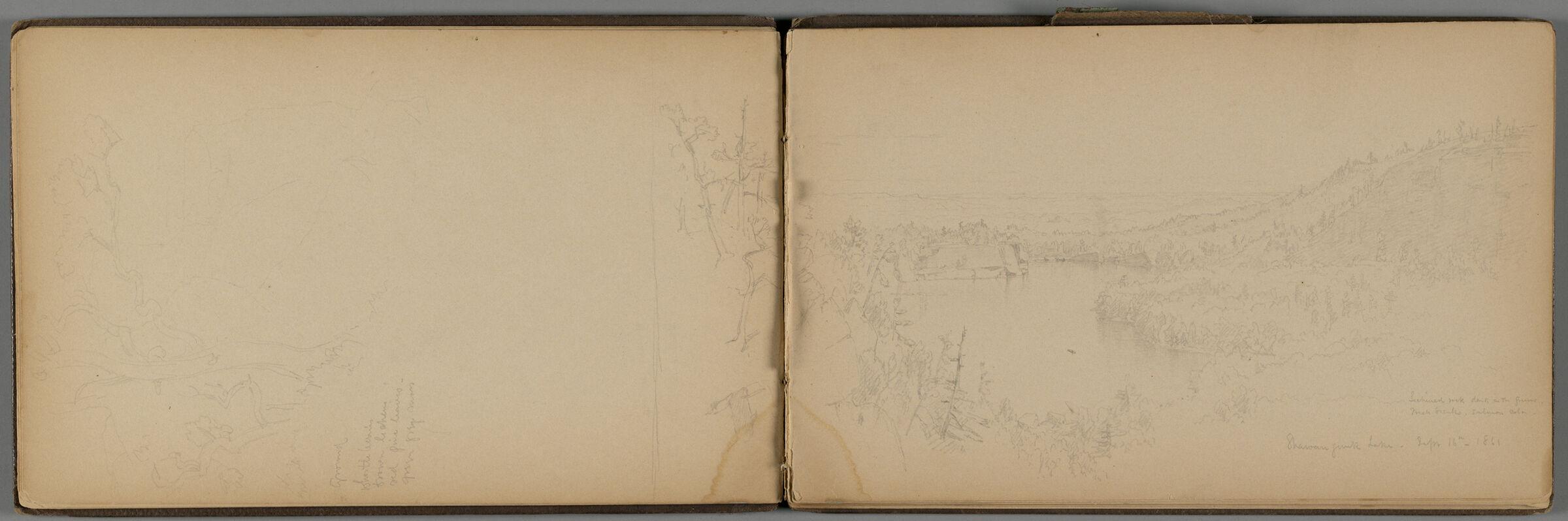 Shawangunk Lake, New York (Recto And Verso)