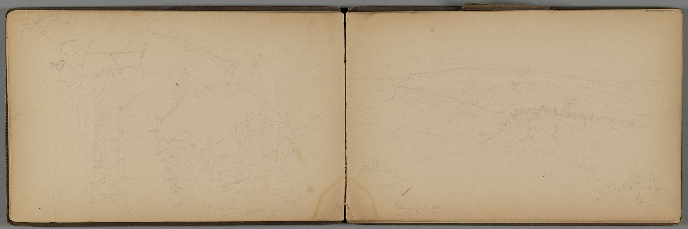 Shawangunk Mountains; Verso: Shawangunk Mountains; Tree With Oxcart