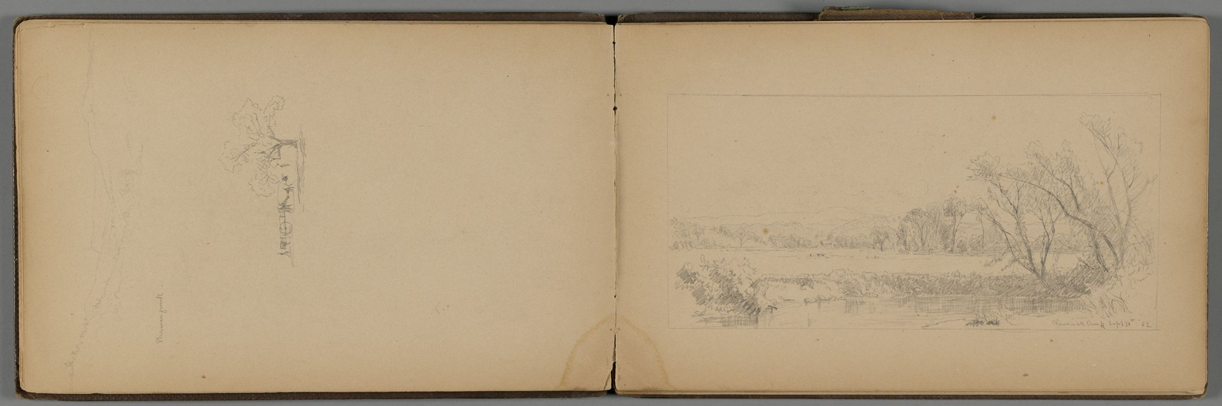 Claverack Creek, New York; Verso: Partial Landscape