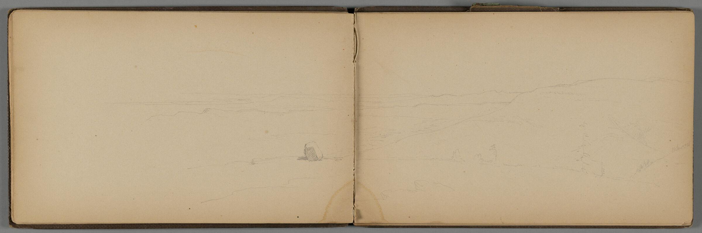 Landscape; Verso: Campsite, Crane Mountain, New York