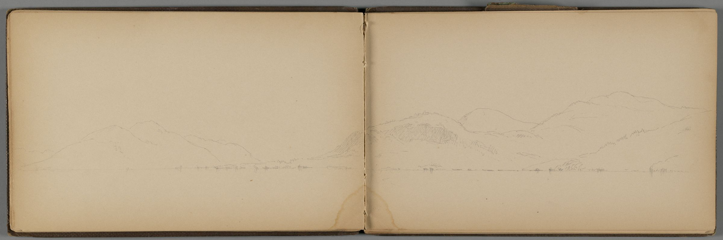 Landscape With Lake; Verso: Partial Landscape With Lake