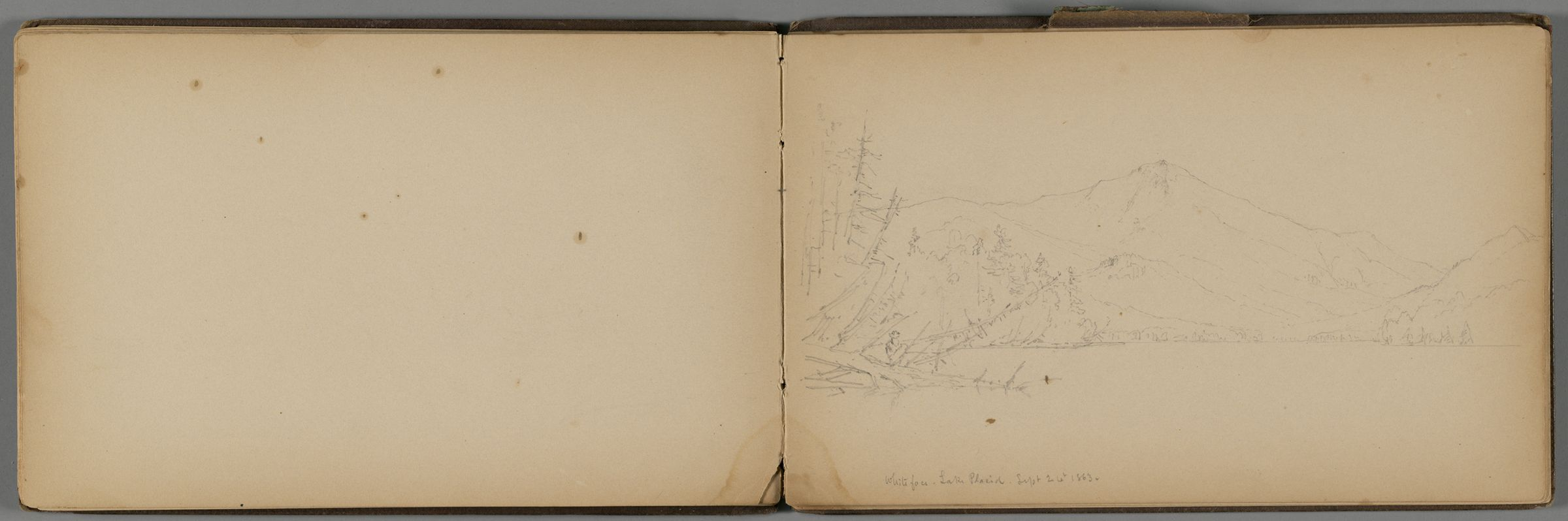Whiteface Mountain, New York; Verso: Partial View Of Lake Placid, New York