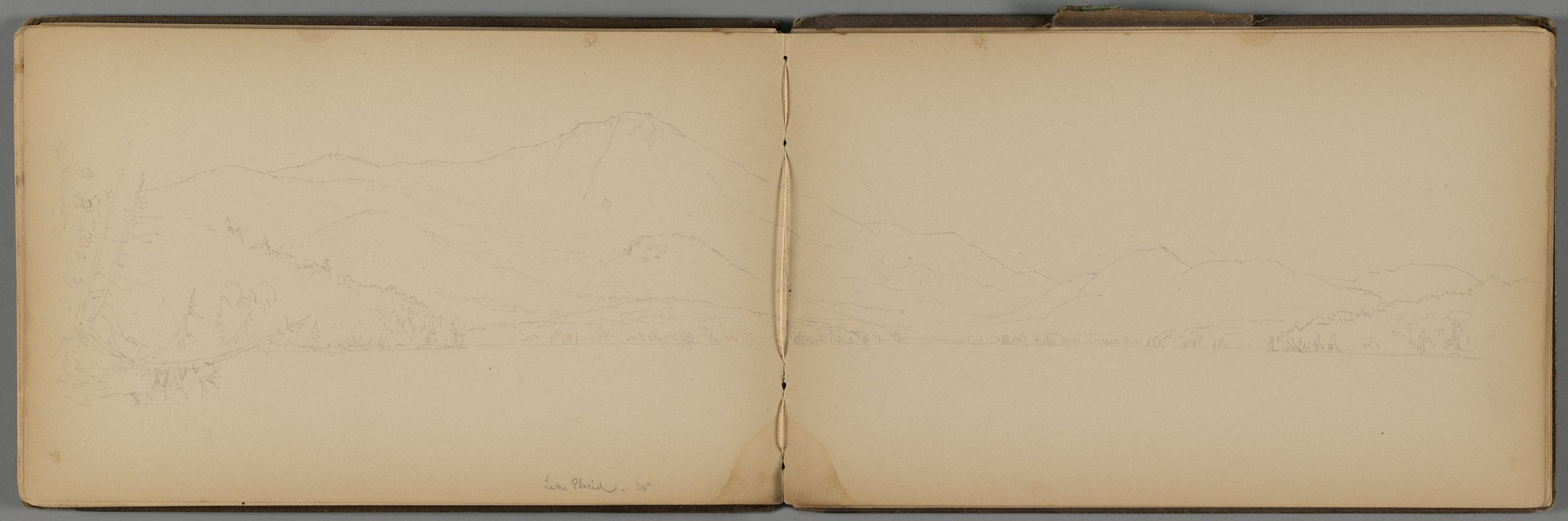 Partial View Of Lake Placid, New York; Verso: Landscape And Partial Landscape