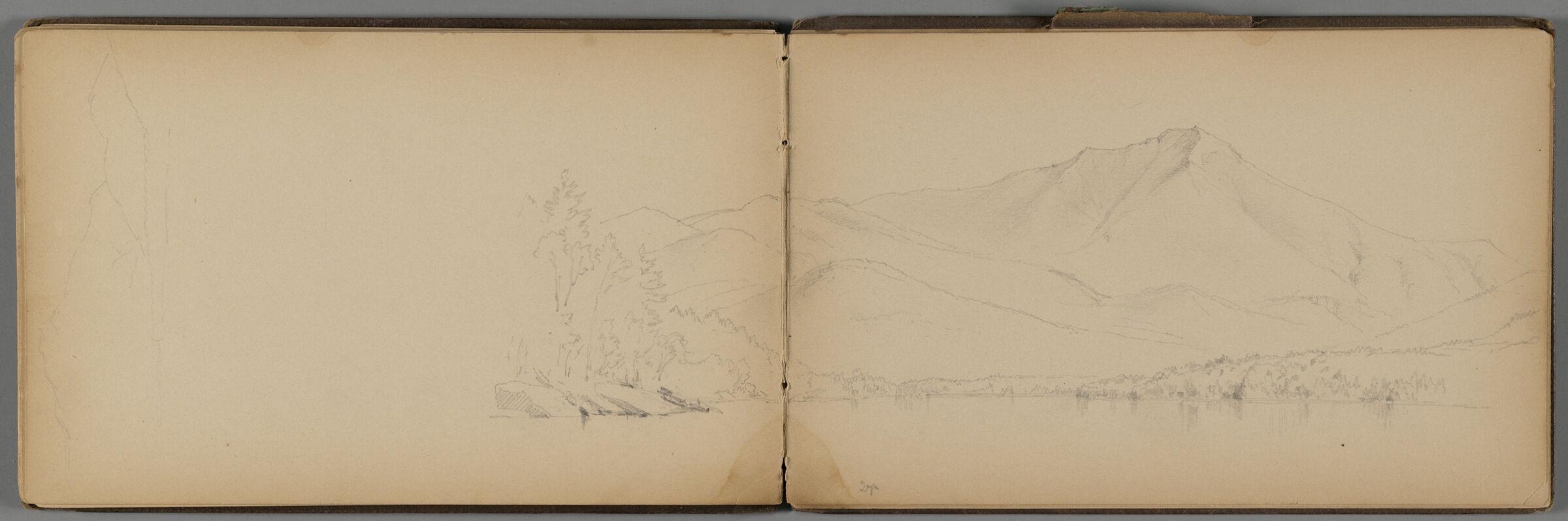 Partial Mountain Landscape; Verso: Rocky Outcropping, Whiteface Mountain