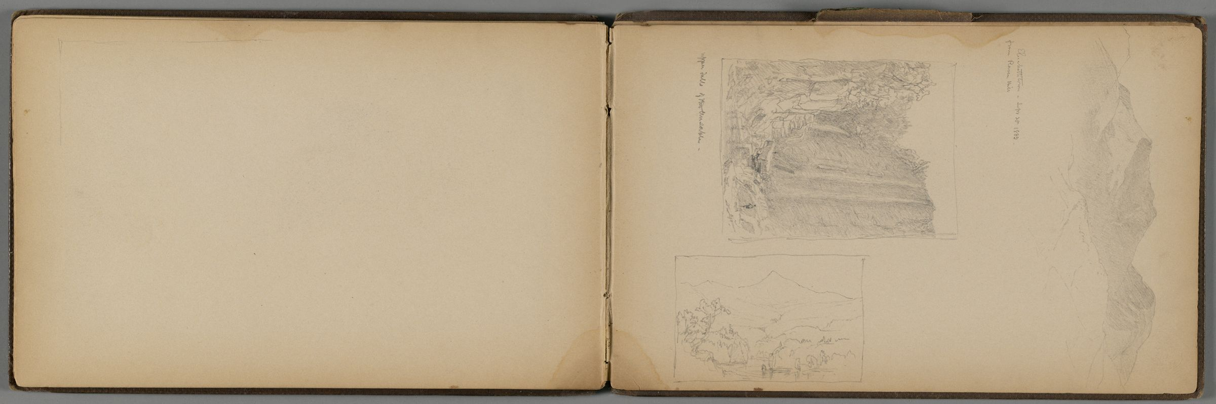 Three Small Landscapes; Verso: Four Small Landscapes And Figure Sketch