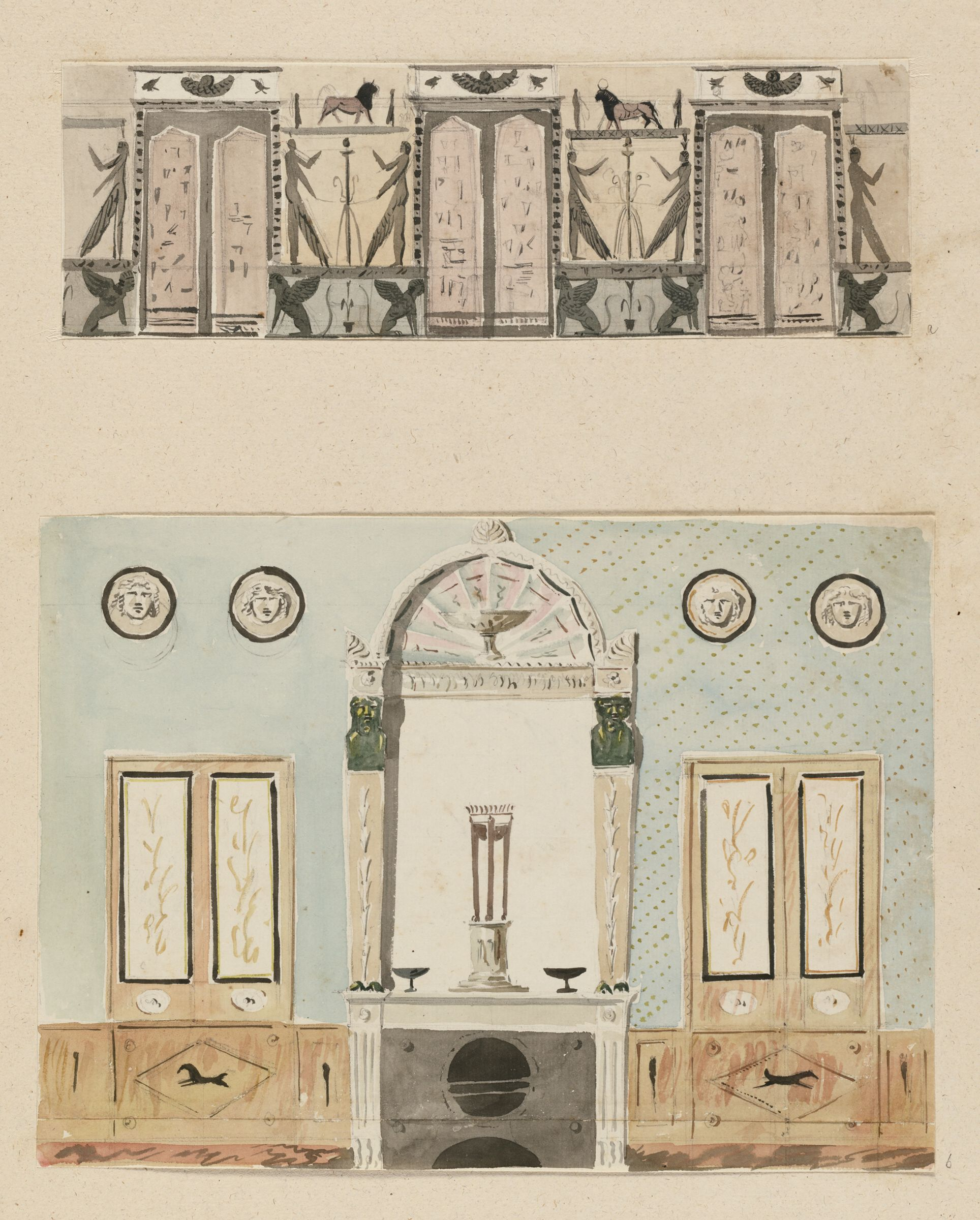 Elevation Of A Wall In The Style
