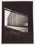 Bauhaus Building, Dessau, 1925-1926: View of the workshop wing through the vestibule window