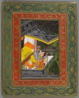 Krishna And Radha Embrace During A Storm (Recto); Priests Worship Shrinathji (Verso); Folio From A Royal Kota-Jaipur Album