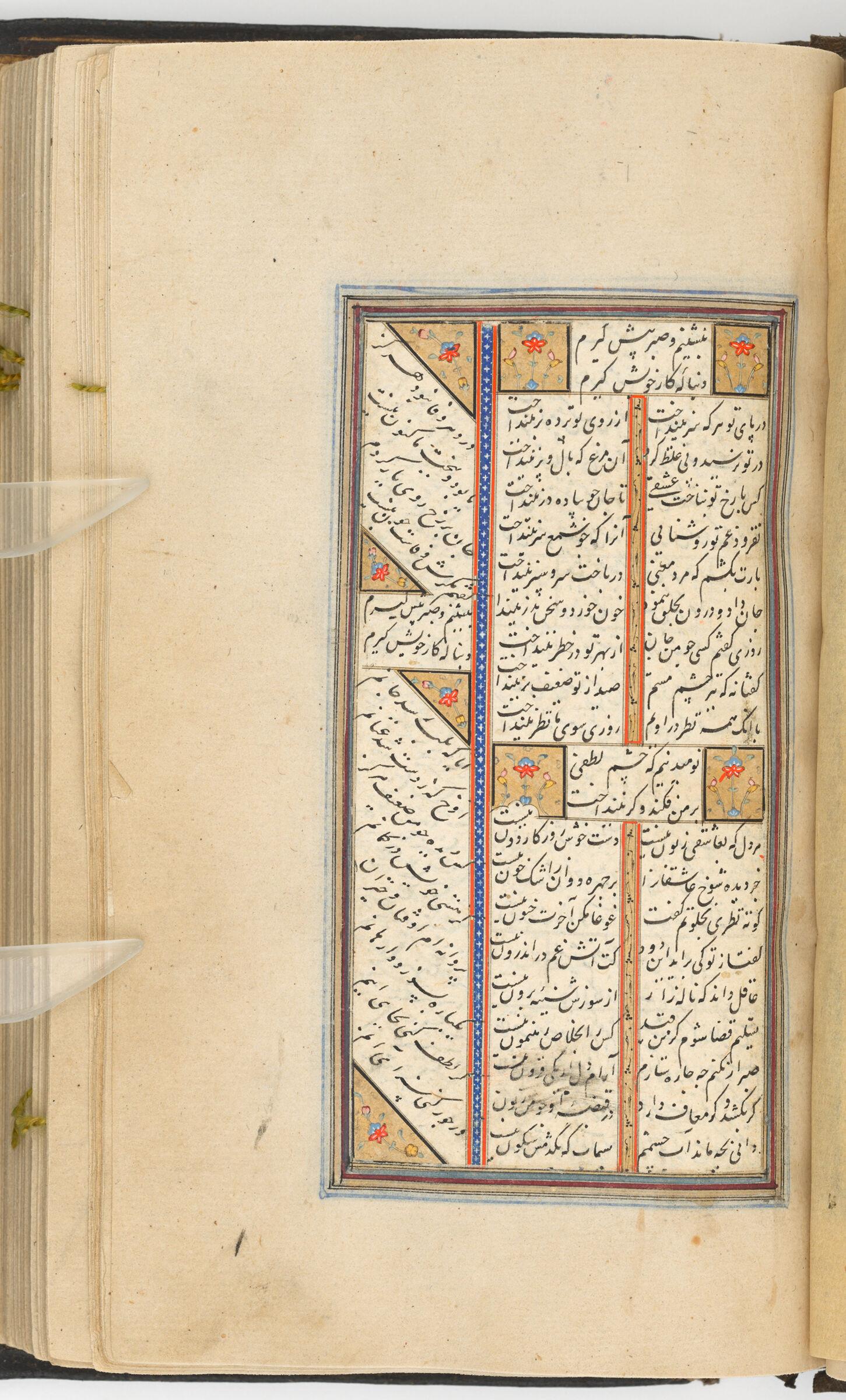 Text Folio (Text Recto; Text Verso Of Folio 187), From A Manuscript Of The Kulliyat Of Sa'di