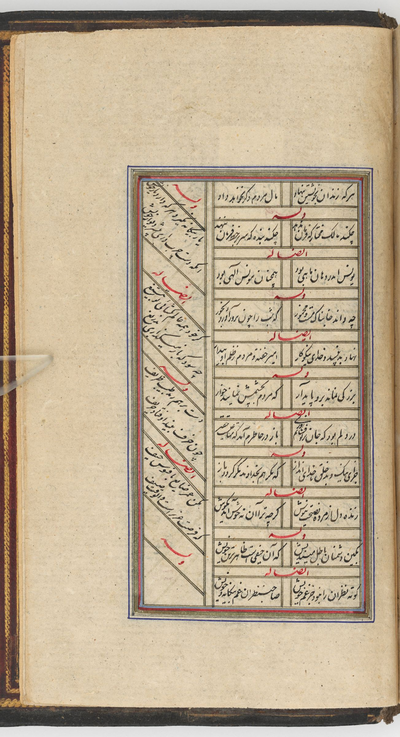 Text Folio (Text Recto; Text Verso Of Folio 348), From A Manuscript Of The Kulliyat Of Sa'di