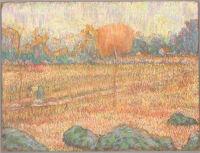 Landscape With An Orange Tree