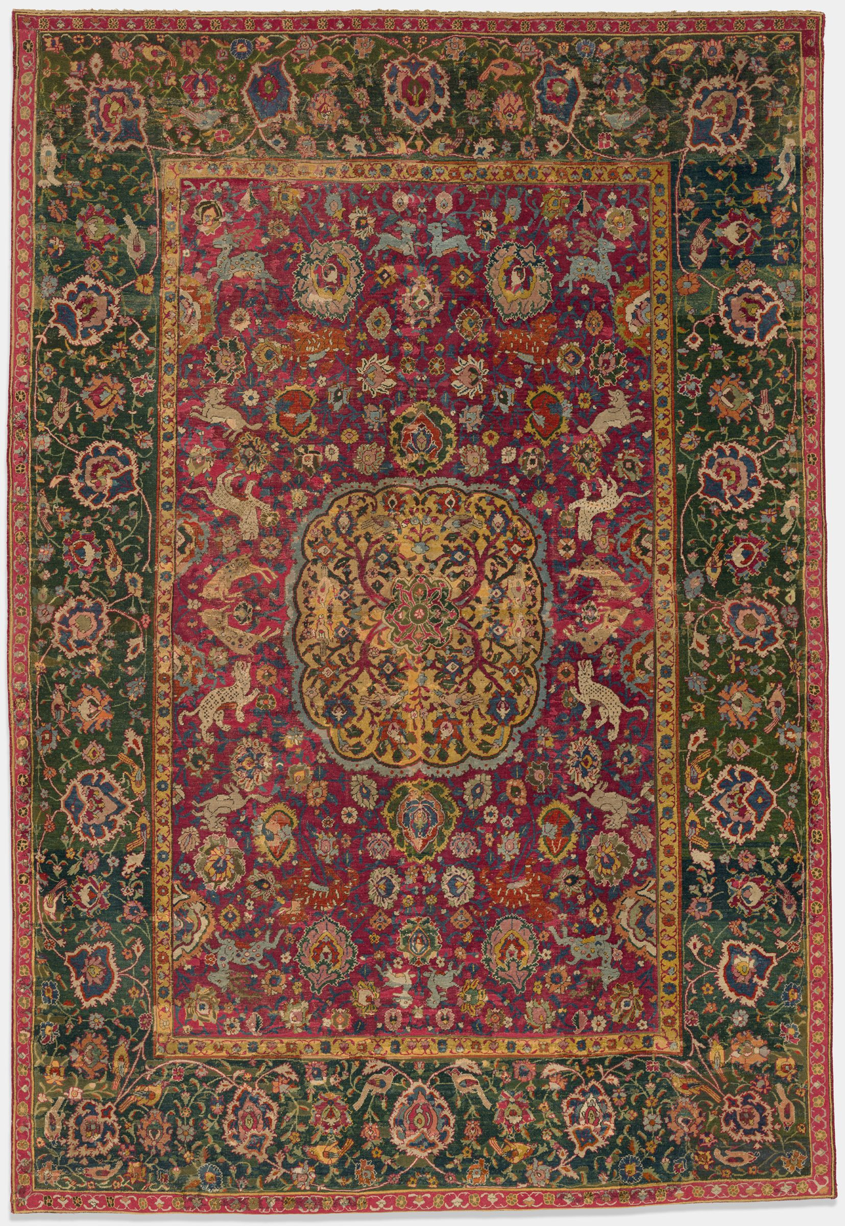 Medallion And Hunting Carpet