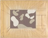 Abstraction, Study for Harkness Commons Mural, Harvard University