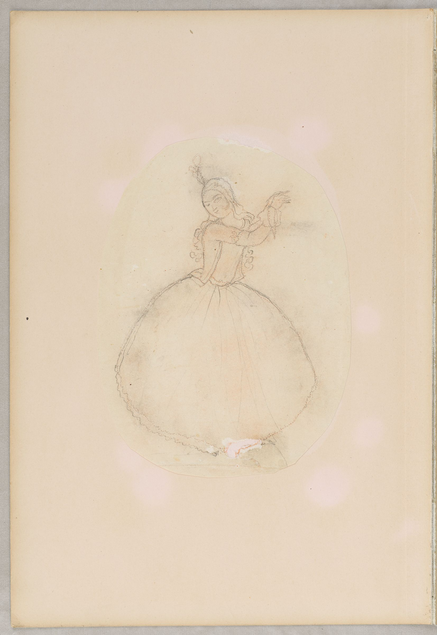Folio 8 From An Album Of Drawings And Paintings: Dancer (Recto); Standing Youth With Waterpipe (Verso)