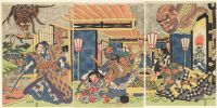 Minamoto No Yorimitsu And His Retainers Defeat The Earth Spider