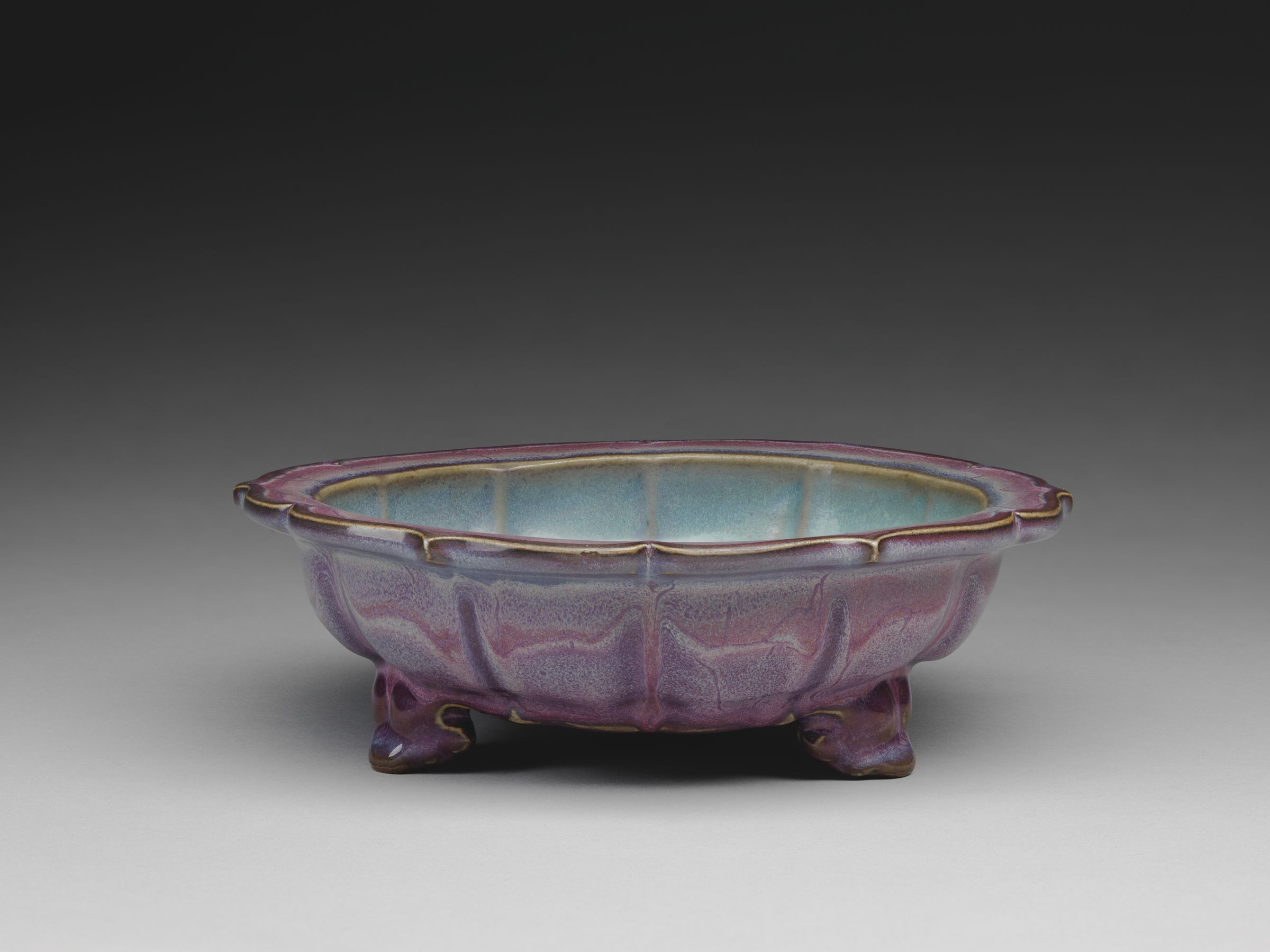 Basin With Barbed, Foliate Rim And Three Cloud-Scroll Feet