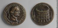 Aftercast of a Sestertius of Vespasian with the Colosseum by Cavino