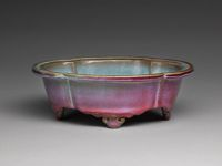 Lobed Quatrefoil Basin With Four Cloud Scroll Feet