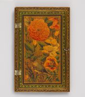 Rectangular Mirror Case With Flowers, Butterfly, And Sleeping Bird (Ext.); Flowers And Butterfly (Int.)