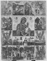 Madonna And Child With Representations Of Twelve Feasts