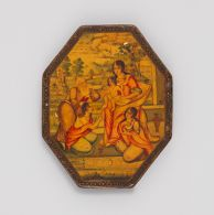 Octagonal Mirror Case with Virgin and Child