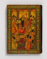 Large Book Cover with Enthronement Scenes of Fath ʿAli Shah and Muhammad Shah
