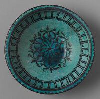 Bowl With Black Foliate Arabesque And Pseudo-Inscription