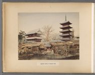 Work 7 of 50 Title: Buddhist temple at Asakusa, Tokio Creator: Kusakabe, Kimbei Date: 188-?