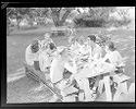 Untitled (Group Of People Eating At A Picnic Table, Rose Valley, Pa)