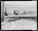 Untitled (Four Men Trying To Extinguish Prairie Fire)