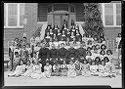 Untitled (Group Of Students, Priests, And Nuns Posed Outside School)