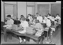 Untitled (Students Working At Typewriters In Classroom)