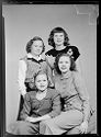 Untitled (Studio Portrait Of Four Girls With Two Standing)