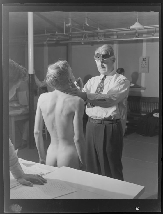 Untitled Doctor Giving Physical To Nude Boy
