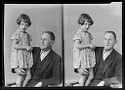Untitled (Two Portraits Of Girl With Grandfather [?])
