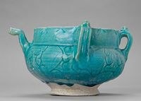 Pitcher With Foliate Carving