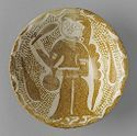 Bowl With Standing Figure Holding A Bottle
