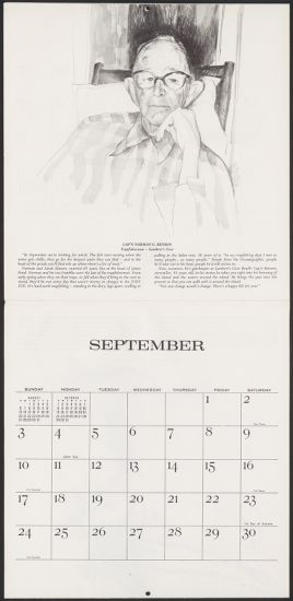1978 Calendar September.Schlesinger Library Online Digital Collections