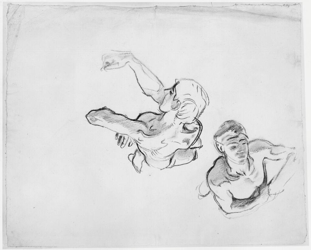 Two Male Figure Studies