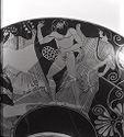 Kylix (Drinking Cup): Satyr And Maenad; Dionysos, Satyrs, And Maenads
