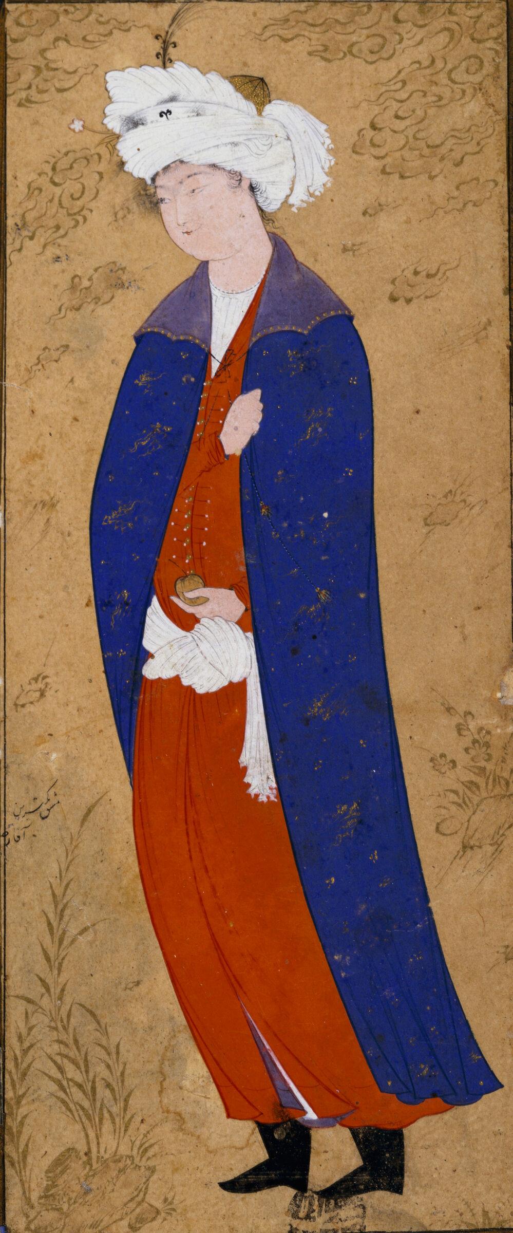 Young Man In A Blue Cloak