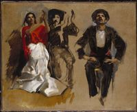 Study For Seated Figures For