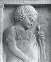 Grave Stele Of A Young Girl,